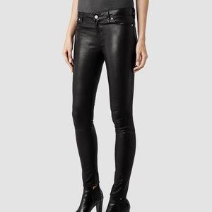 All Saints Spitalfields Leather Pant
